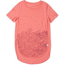 tentree Rising Sea Camiseta Mujer, rojo